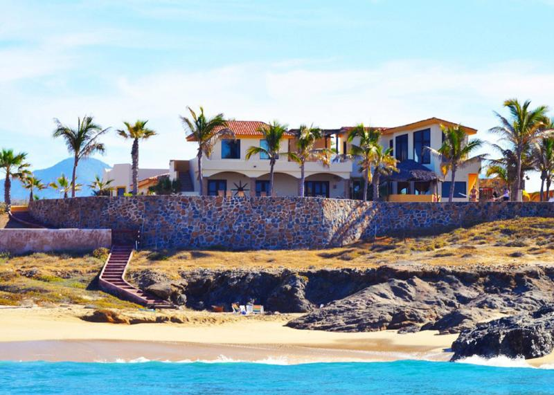 View from the Pacific - The Beach.  Miles of private beach.  7 Bedrooms - Cabo San Lucas - rentals