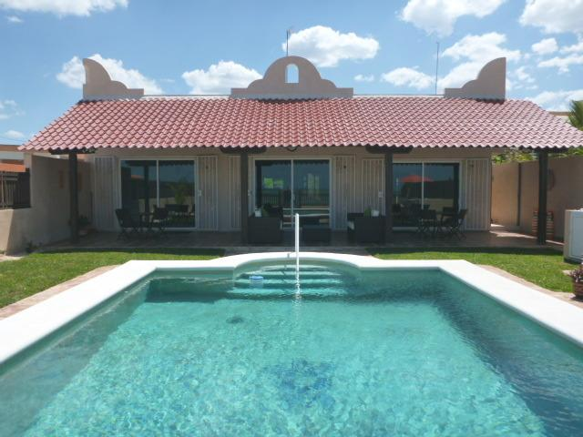 View of house and pool from the beach - Tortugas - Beautiful Beach Casa - Chelem, Yucatan - Chelem - rentals