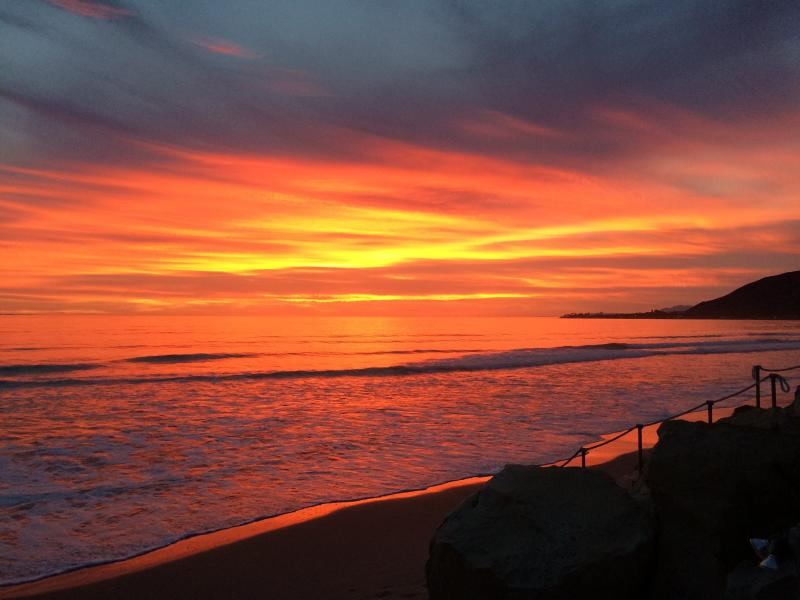 Stunning sunset 3-14-15 - Solimar Beach House on the water in Ventura County - Ventura - rentals
