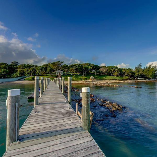 Beach View from the Dock - Casa Vista Verde, Award Winning Beachfront Villa! - Roatan - rentals