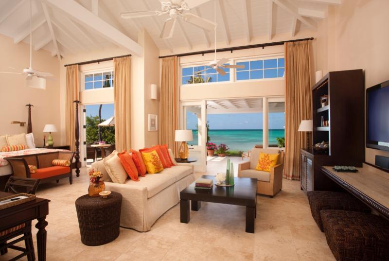 Beachside Courtyard Suite at Jumby Bay, Antigua - Ocean View, Private Courtyard - Image 1 - Saint George Parish - rentals
