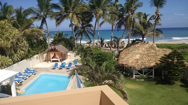 View from the roof top deck - Beachfront Villa, Bachelor parties, reunions, 6 bd - Cabarete - rentals