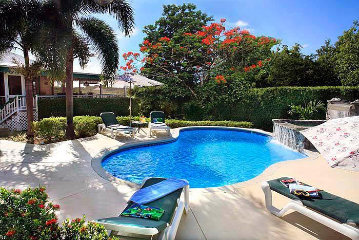 Villa Verandah's fabulous Pool and Waterfall - Villa Verandah in Nevis, Pool and Air/Cond. - Nevis - rentals