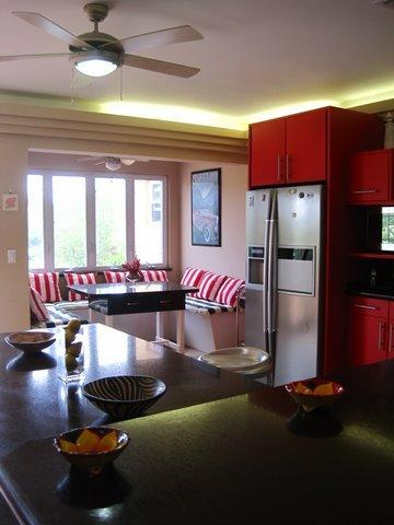 Kitchen Breakfast Nook - Villa Bella Mare, Steps to the beach in Malmok - Malmok Beach - rentals
