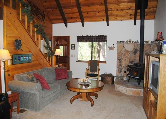 Living Room - Spacious mountain home with amenities located in a quiet area of  Arnold CA - Arnold - rentals