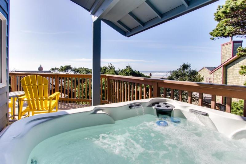 Oceanview home with a private hot tub & deck - one dog welcome! - Image 1 - Manzanita - rentals