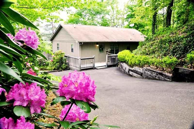 Big Oaks Pointe -- Less Than A Mile Walk from Downtown With Wooded Seclusion, a Seasonal View, and Sheltered Hot Tub - Image 1 - Bryson City - rentals