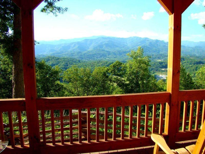 Wind Song Cabin - Beautifully appointed with gorgeous long range view from indoors or out. Quiet and Secluded with Internet - Image 1 - Bryson City - rentals