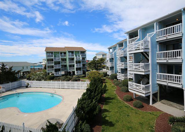 Seascape D20-Bright and beachy ocean view one bedroom condo on the North End - Image 1 - Carolina Beach - rentals
