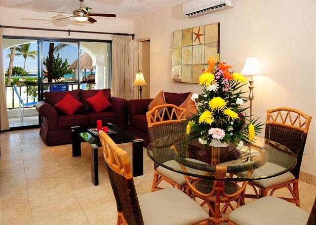 Dining and Living Areas with Ocean Views - Preferred two bedroom comfortable unit  (XH7006) - Playa del Carmen - rentals