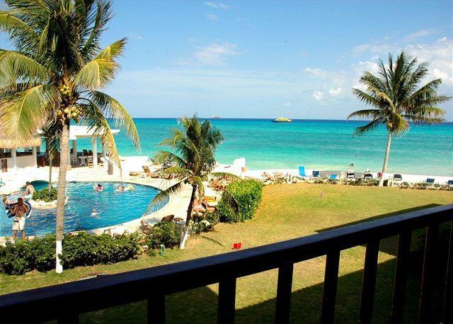 This is the view from Xaman Ha 7103 - Double Balcony! Oceanfront 2 bedroom in Xaman Ha (XH7103) - Playa del Carmen - rentals