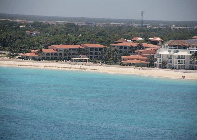 Xaman Ha from the air - 3 Bedroom groundfloor end unit oceanfront condo (XH7022) - Playa del Carmen - rentals
