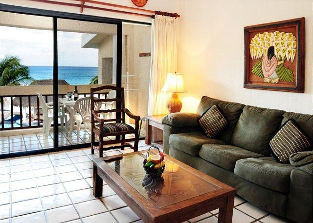Living Area looks out to the ocean - Penthouse 2 bedroom with gorgeous views! (XH7202) 35% off - Playa del Carmen - rentals