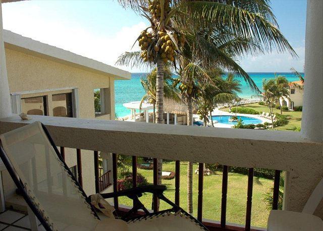 Xaman Ha 7212 terrace - Oceanfront with pool 3 bedroom in Xaman Ha (XH7212) - Playa del Carmen - rentals