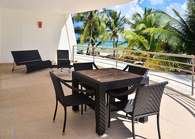 Corto Maltes 105 Balcony - 2 Bedroom Oceanfront Condo at Corto Maltes! (CM105) - Playa del Carmen - rentals
