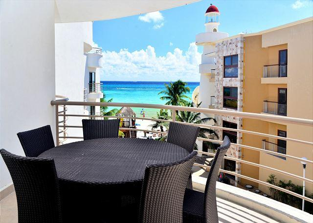 Corto Malte 302 Balcony - Luxurious beachfront condo, 2-bdrm, 2-bath Playa del Carmen (CM302) - Playa del Carmen - rentals