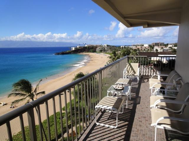 Amazing breathtaking view from lanai and most rooms.  Black rock, beach, sand, surf, and islands! - The Whaler Maui-Suite 802-Spectacular Ocean Front - Ka'anapali - rentals