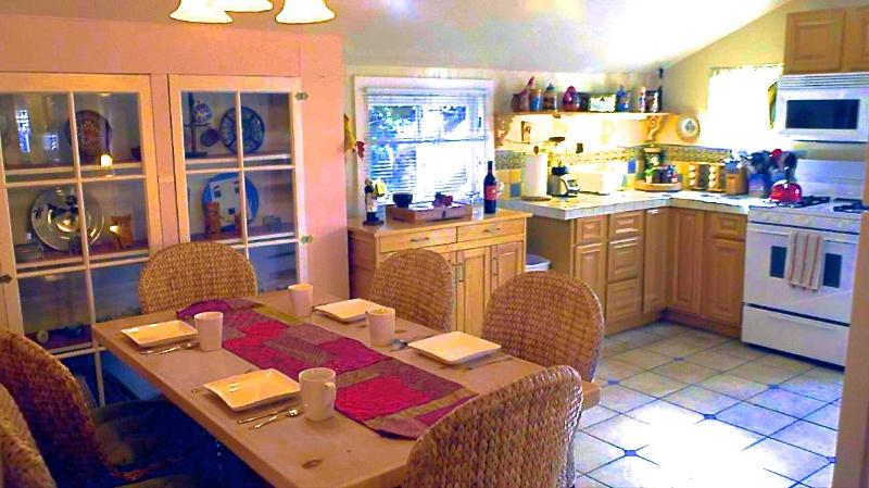 Our spacious kitchen and dining area of our Beethoven's Hideaway home - Gorgeous Artistic Home Near Beach - Free Bikes! - Santa Monica - rentals
