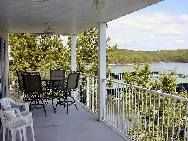 Covered Balcony  - 3 BR, 2 Bth Lakefront condo in Lake of the Ozarks - Osage Beach - rentals