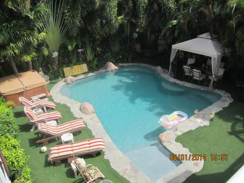 Superior Room view with pvt.balcony overlooking Tropical Pool - Share 5 Star $2.4m Home in Old Town in Key West - Key West - rentals