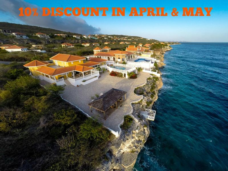 10% DISCOUNT for stays in April & May 2015 - 10% DISCOUNT in April & May 2015 - Curacao - rentals