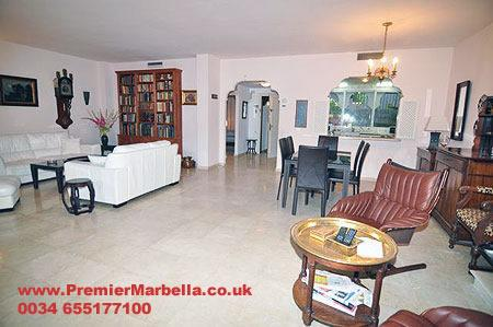 "The extremely spacious lounge - El Presidente ""GARDENS"" 3 Bed, Heated Pool + wifi - Malaga - rentals"