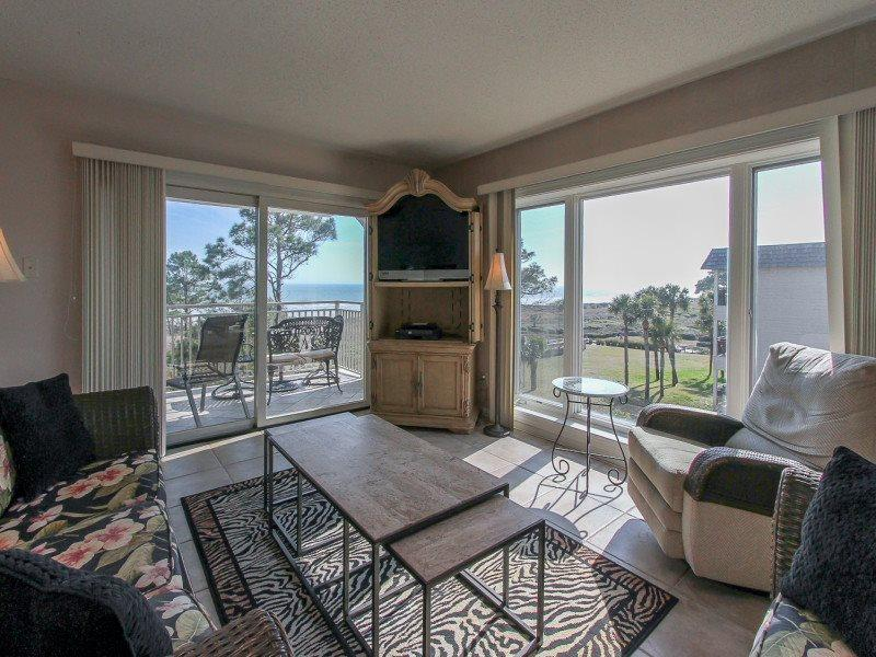 Living Area with Ocean Views from 407 Shorewood - 407 Shorewood - Hilton Head - rentals