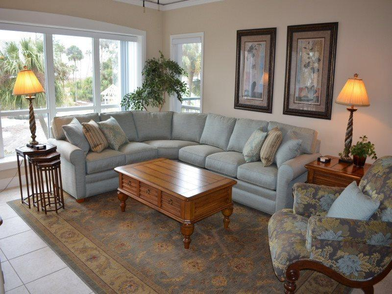 Living Room at 4108 Windsor Court North - 4108 Windsor Court North - Palmetto Dunes - rentals