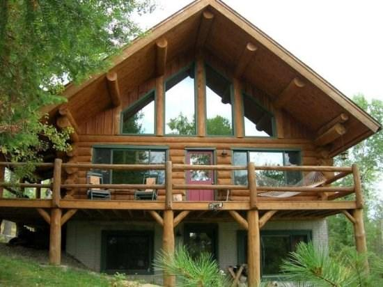 Hand-Scribed Log Home - Everett Ridge: Year-Round Upscale Log Home on Private Everett Lake - Ely - rentals