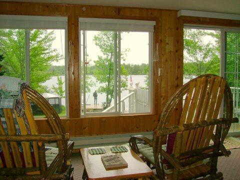 Family room is also open to dining area and kitchen - Loons Nest: Charming Northwoods Cabin with Great View on White Iron Lake - Ely - rentals