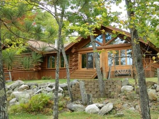 Maple Leaf Lodge: Modern Year-Round Log Home with Enclosed Pool on Eagles Nest Lake #3 - Image 1 - Ely - rentals