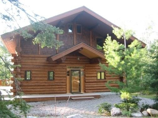 Driftwood Lodge entrance - Driftwood Lodge: Exceptional and Spacious 3 Story Hand Scribed Cedar Log Home - Ely - rentals