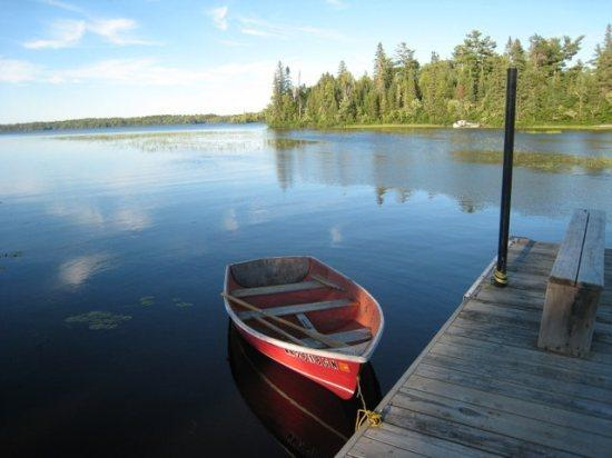 Boat rentals available - White Iron Hideaway: Hand Built Log Guest Cabin in Quiet Bay on White Iron Lake - Ely - rentals