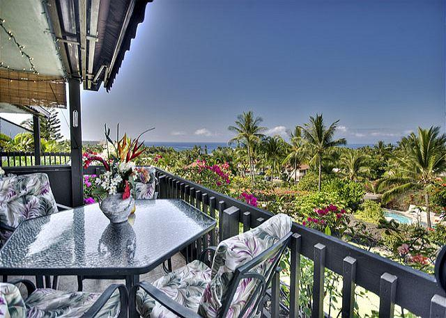 Beautiful Tropical Views from your Lanai - Keahou Resort 125- Beautiful one bedroom, one bathroom with ocean views! - KR125 - Kailua-Kona - rentals