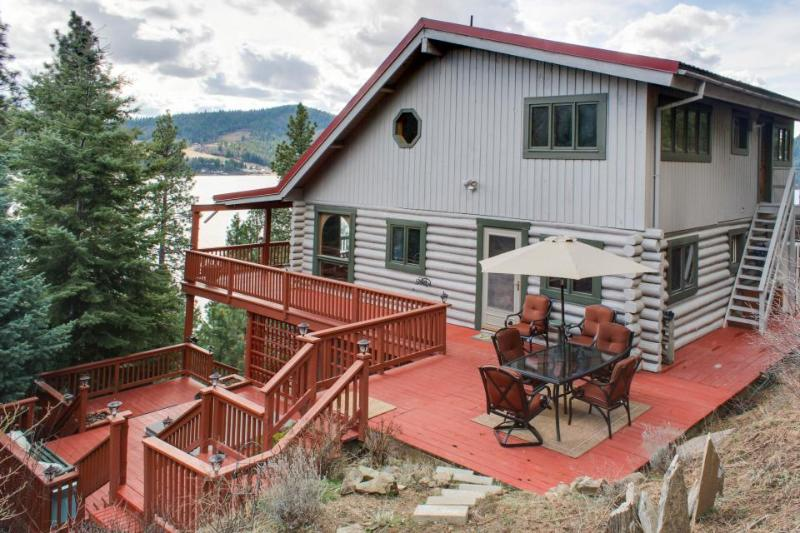 Amazing home w/great lake views, private hot tub, and 360-degree deck! - Image 1 - Harrison - rentals