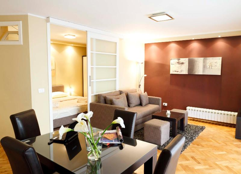 Overview on the living room & bedroom - Amazing One Bedroom DOWNTOWN Apartment LITTLE BAY - Belgrade - rentals