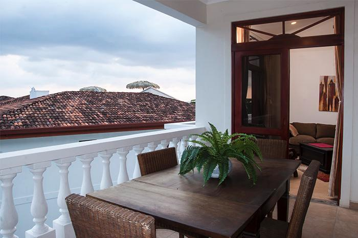 Private dining balcony - Paloma Blanca 4G 4th Floor Pool View - Jaco - rentals