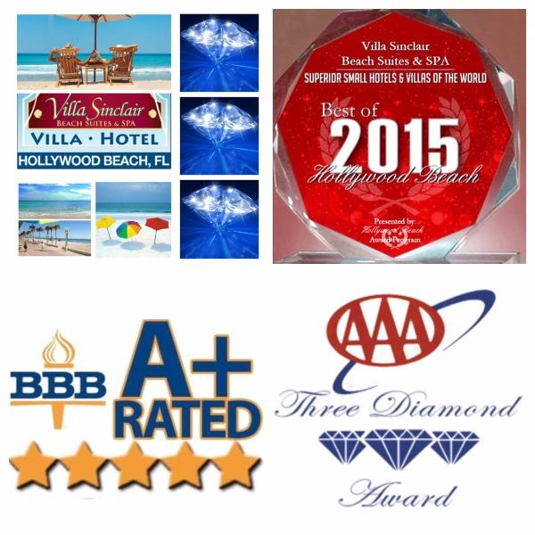 3 Diamonds AAA, BBB A+ Rated, Best of Hollywood Beach 2015 Villa Hotel - #1 Best Hollywood Beach Villa Hotel 3 Diamonds AAA - Hollywood - rentals