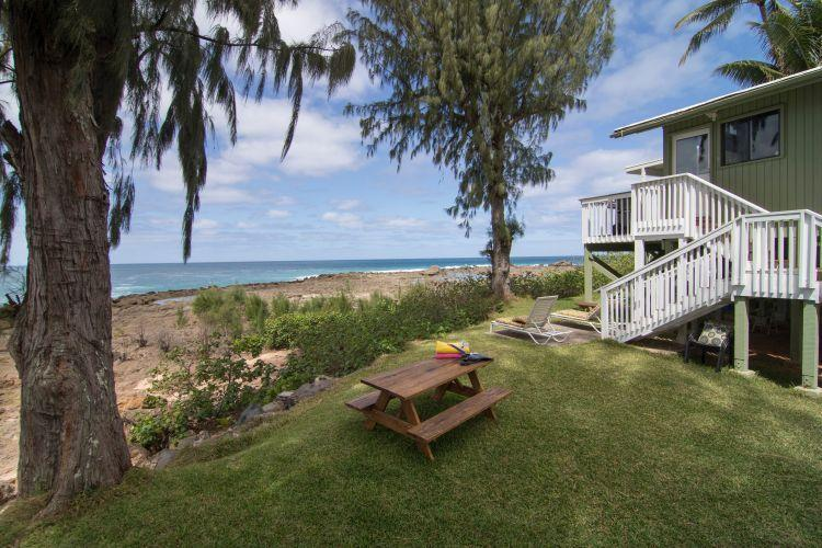 Yard w/ Picnic Table & Above Ground Pool - Best Oceanfront Views! Pool, and - Sunset Beach - rentals