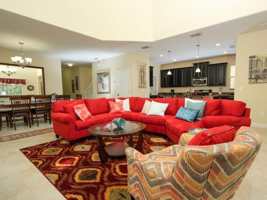Stunning 5 Bed 5 Bath Pool Home In Paradise Palms Resort. 2948BPD - Image 1 - Orlando - rentals