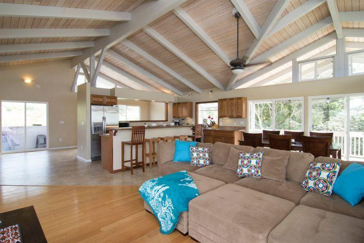 Comfortable Seating Area - Newer Ocean View Home - Granite, Pool ! - Haleiwa - rentals