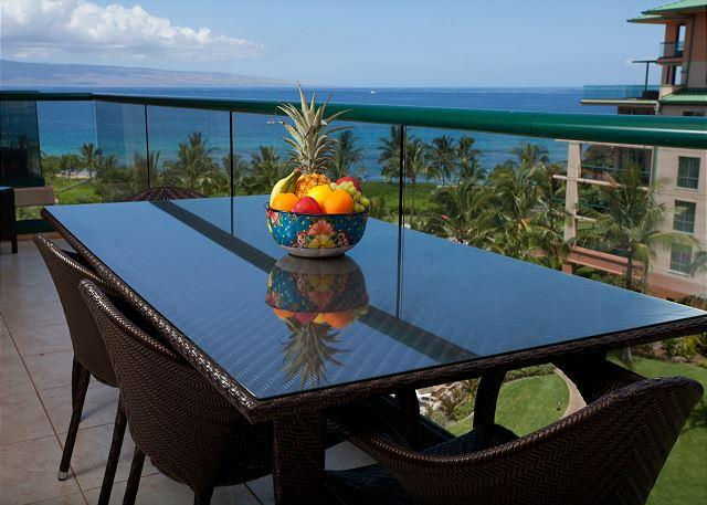 Relax with your family on the lanai and enjoy the fresh morning sea breeze - Hawaii Life Presents The Reserve Collection of Konea 2BR/2BA True Ocean View - Lahaina - rentals