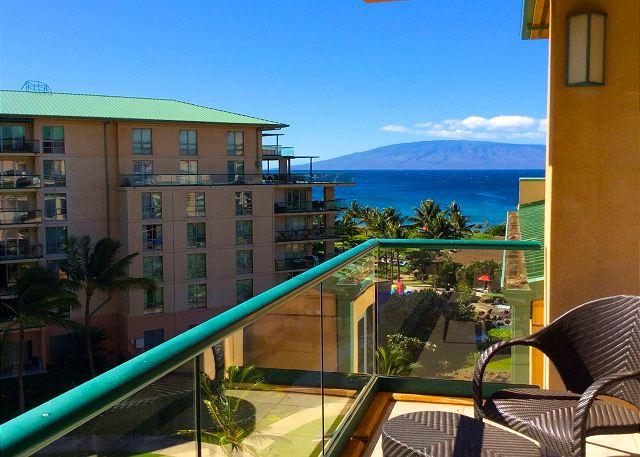 Beautiful partial ocean view with the island of Lana'i in the distance from your lanai. - Hawaii Life Presents The Reserve Collection of Konea2BR/2BAMountain&Oceanview - Lahaina - rentals