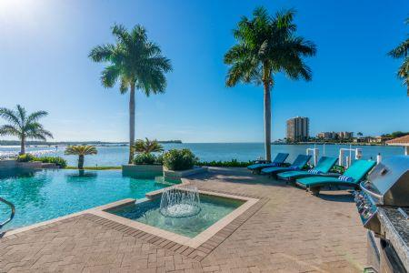 Imagine relaxing poolside - LUXURY Living Estates home on Caxambas Pass with open water views of the Gulf of Mexico - Marco Island - rentals