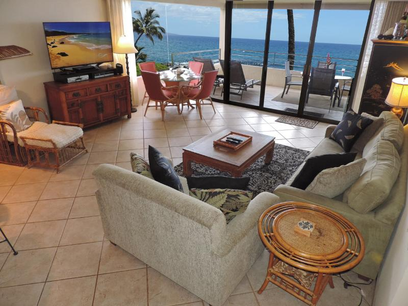 Living Room - Beachfront at Polo Beach Club Wailea-Makena Maui - Wailea - rentals