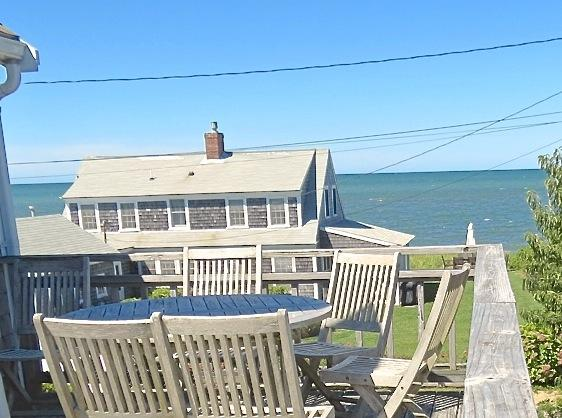 One house back and about 100 feet from the beach in Brewster with outstanding water views from the upper deck and most of the house. - Water Views, 150 Feet to Private Beach -- 015-B - Brewster - rentals