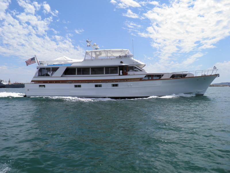 "Elegante cruising San Diego Bay - LUXURY YACHT - ""ELEGANTE""  BOAT, BED and BREAKFAST - Pacific Beach - rentals"