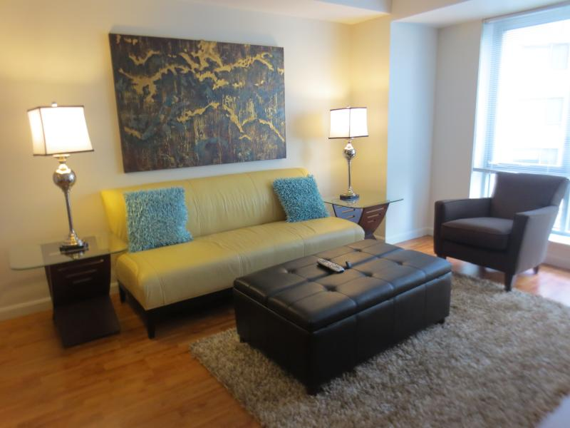 Living room - Lux 2BR by Fenway w/WiFi - Boston - rentals