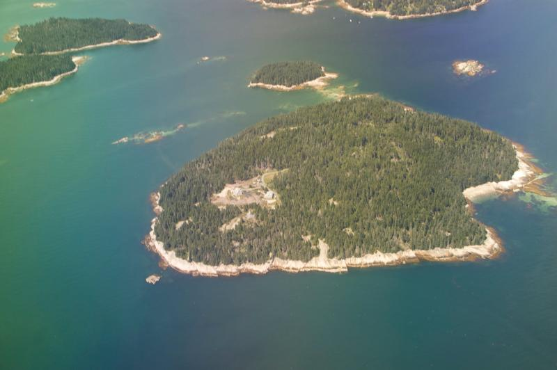 Aerial view of Spruce Island thanks to one of our guests - Private Island for Large or Small Gatherings - Stonington - rentals