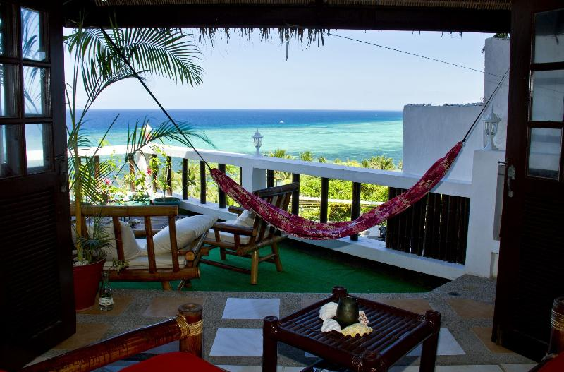 From sofa - Fantastic oceanview! Quiet/central sleeps up to 5! - Boracay - rentals